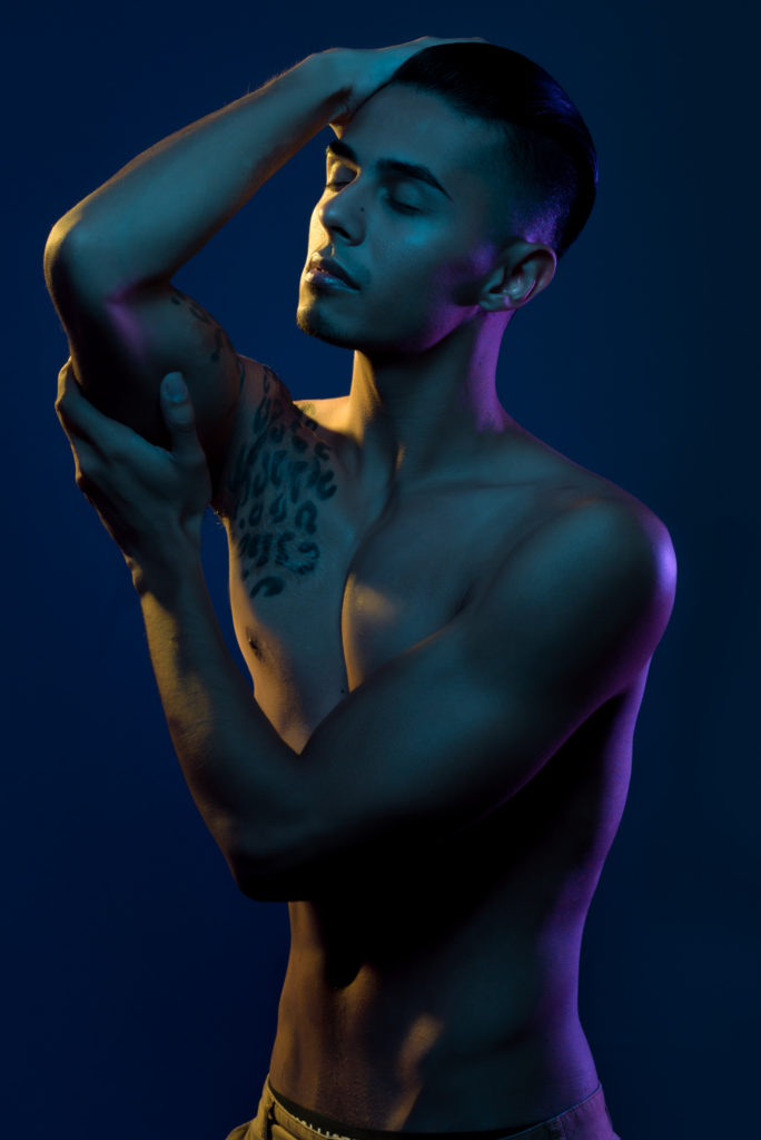 Male_Model_Color_Gel_Photography